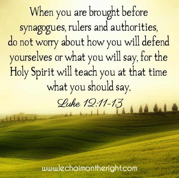 Luke 1211-13