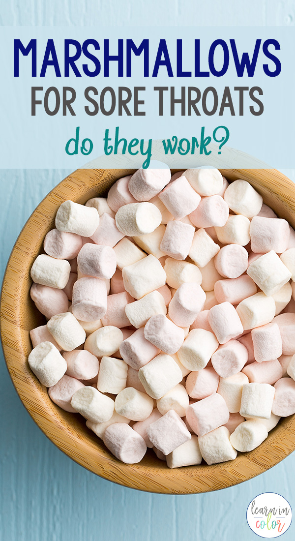 "After seeing ""Marshmallows for sore throats"" all over Pinterest, I knew I had to try it. Here's my experience with marshmallows for sore throats - do they work?"