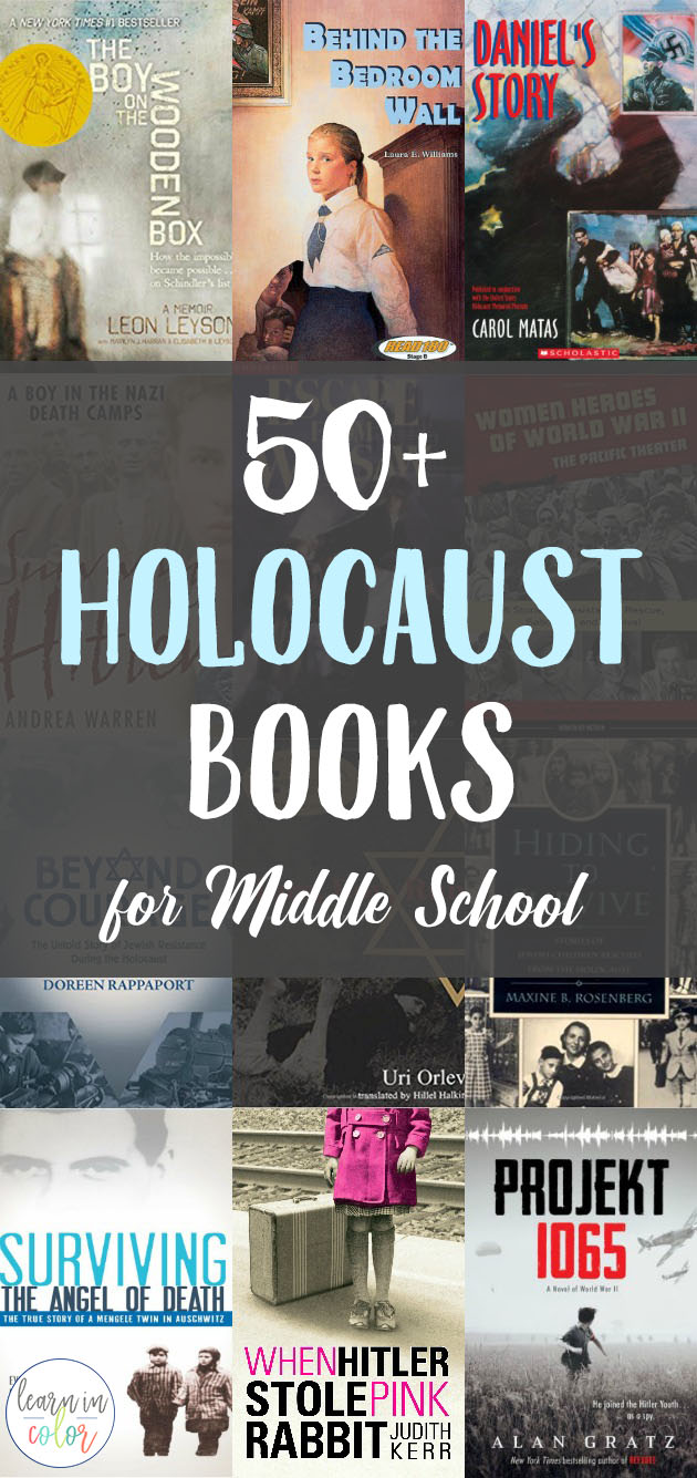 The Holocaust is a difficult but necessary subject to learn and teach. Here is a detailed list of 50+ books about the Holocaust for middle school, including a mix of fiction and nonfiction.