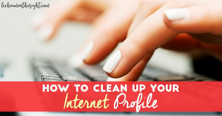 How to Clean Up Your Internet Profile FB