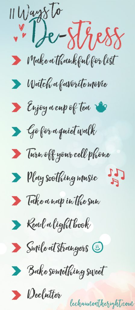 11 Ways to Destress