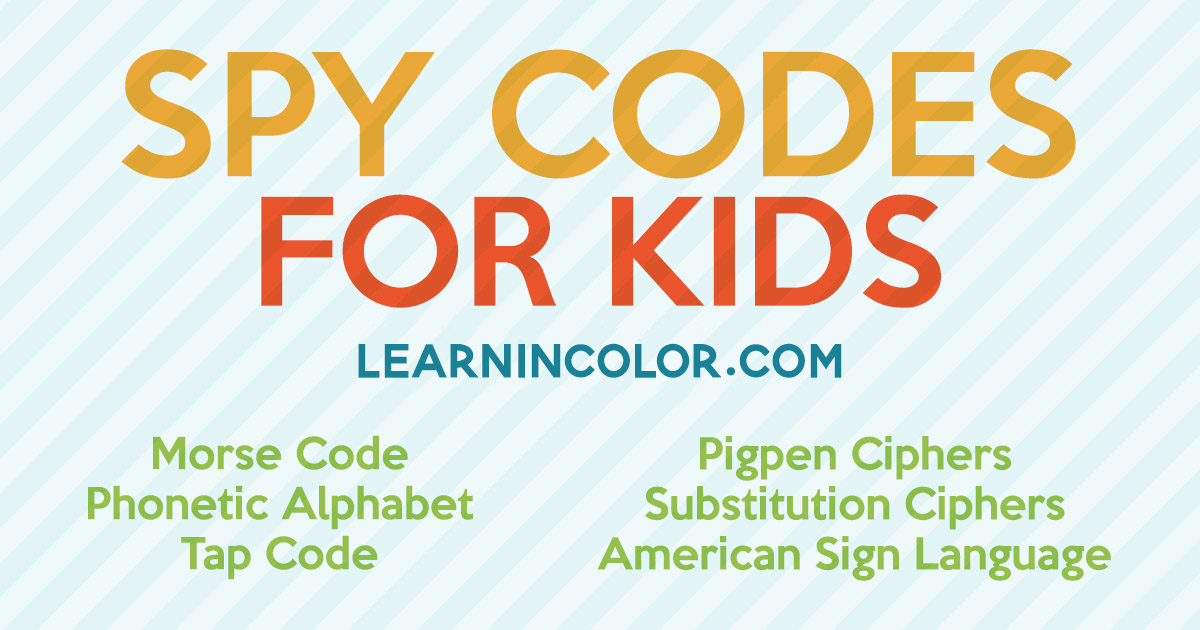 graphic relating to Printable Code Cracker Puzzles identified as 7 Mystery Spy Codes and Ciphers for Youngsters with Totally free Printable Checklist