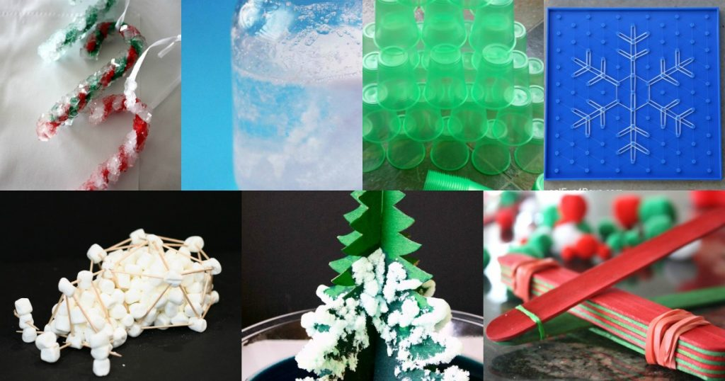 Here are 25 Christmas STEM activities: Christmas science, technology, engineering, and math activities to use this Christmas season.