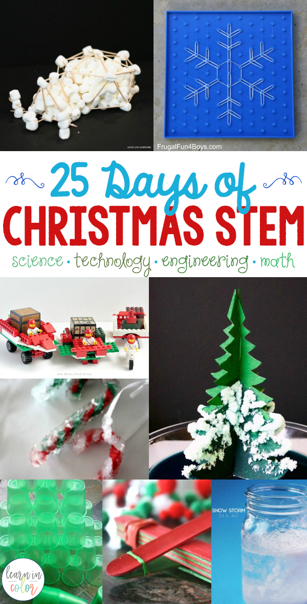25 Days Of Christmas Stem Activities Science Tech Engineering Math