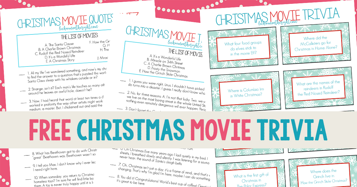 image regarding Printable Trivia Questions and Answers called Absolutely free Printable Xmas Video clip Trivia: Xmas Match Evening