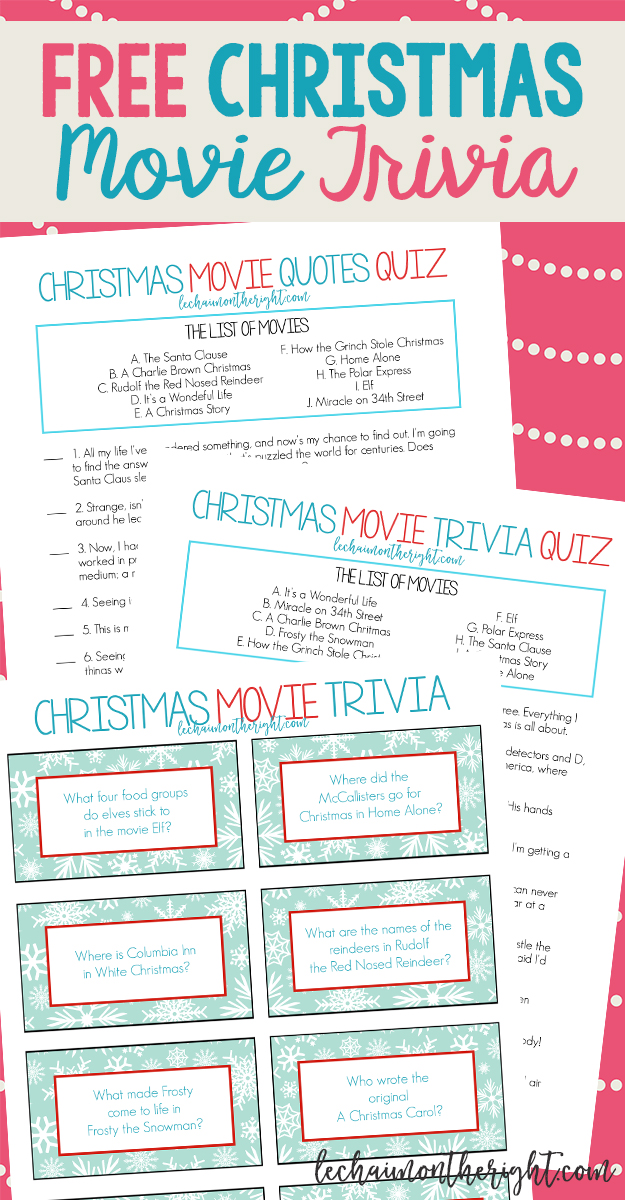 This is a photo of Monster Christmas Movie Trivia Printable