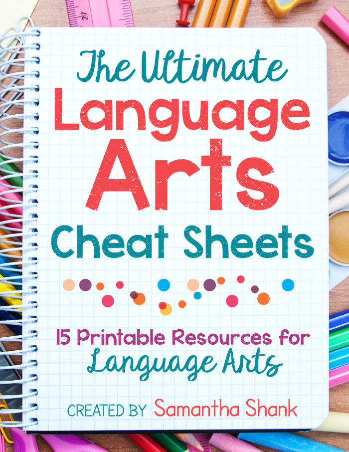 graphic about Grammar Cheat Sheets Printable identify Top Language Arts Cheat Sheets: Language Arts Printable