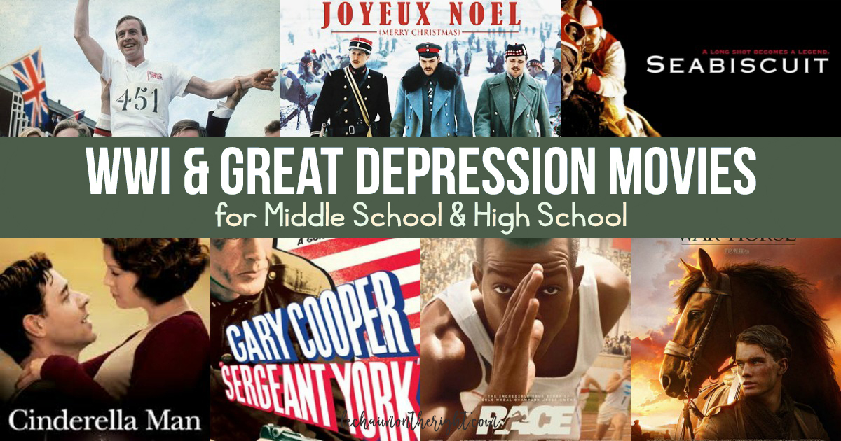 WWI and Great Depression Movies FB copy