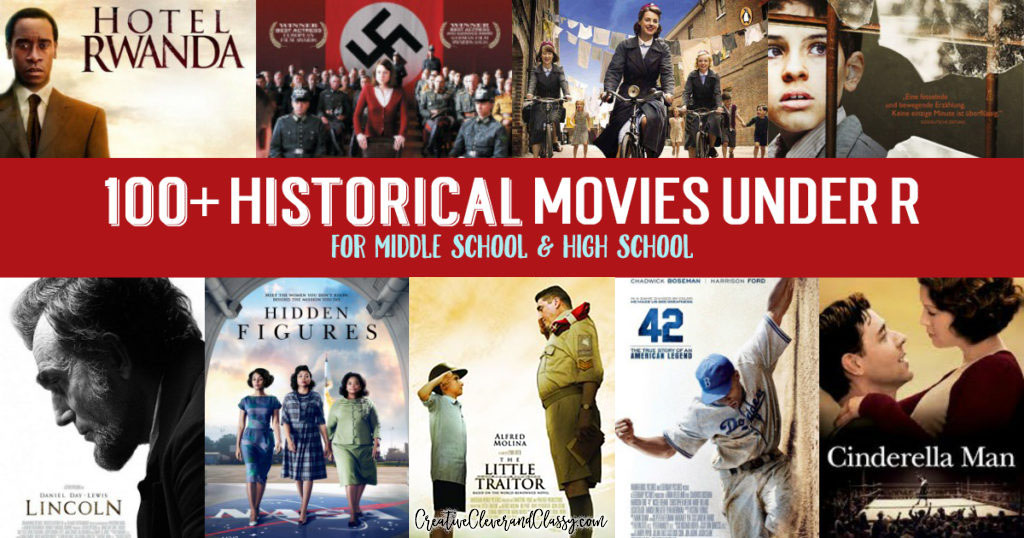 Historical Movies for Middle School and High School Under R