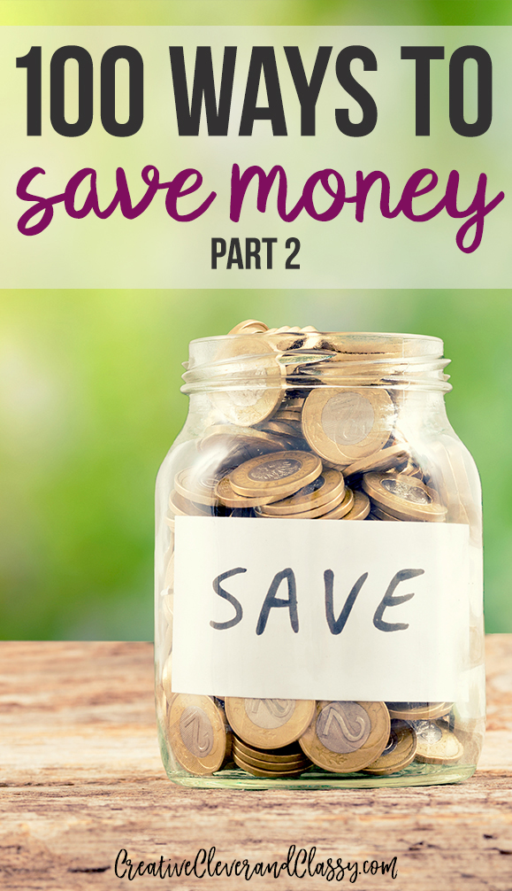 Saving money can be difficult, but it is not impossible. Here are 100 ways to save money in your everyday life!