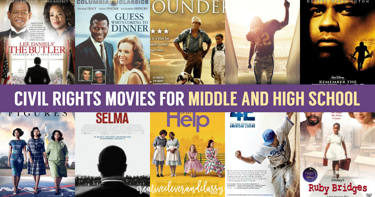Civil Rights is a topic as relevant today as it was 60 years ago Here are some great Civil Rights movies for middle and high school to stir discussion!