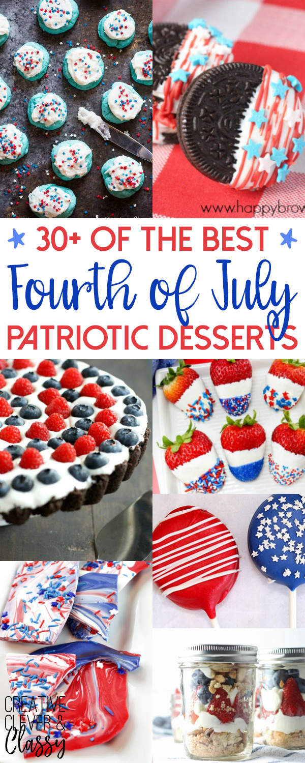 4th of July is right around the corner! Get ready to celebrate with this amazing patriotic Fourth of July Desserts!
