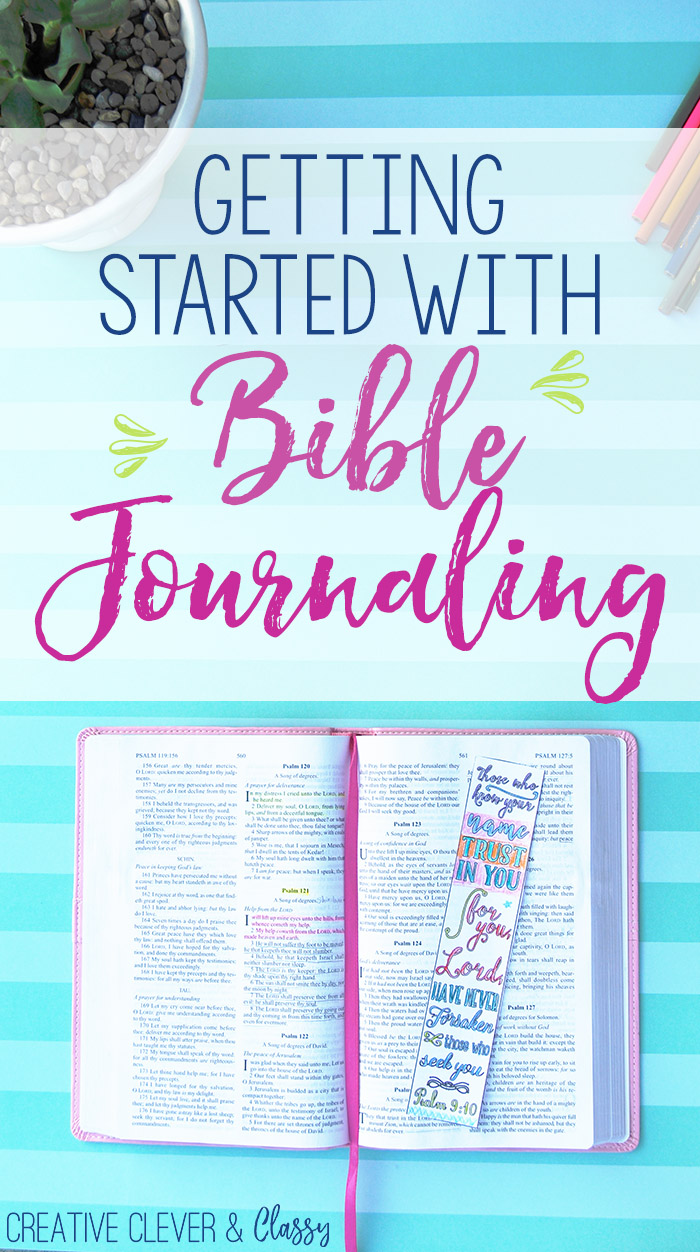 Bible Journaling is a great way to relax while meditating on Scripture! Here is how to get started with Bible journaling easily!