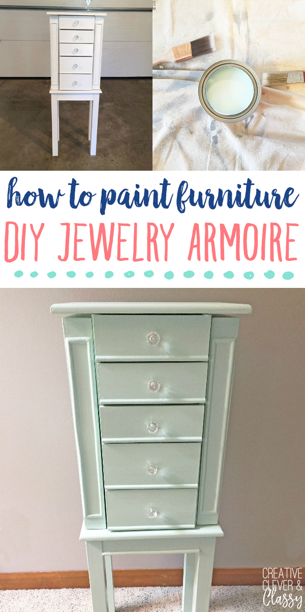How To Paint Furniture Jewelry Armoire For Jewelry Organization