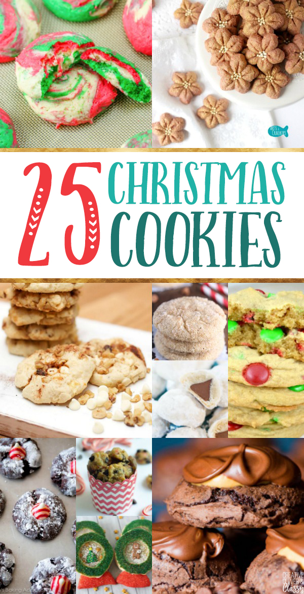 Making Christmas cookies is the best part of Christmastime! Countdown to Christmas with these 25 Christmas cookie recipes.