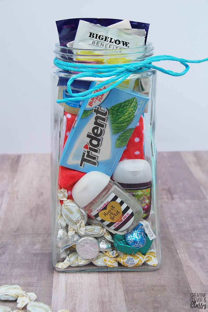 With flu season here, create this easy DIY get well soon gift in a jar for a friend in need of some TLC! It's great for him, her, or kids!