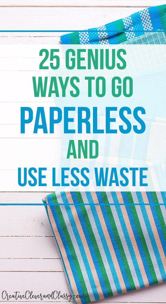 Whether you're trying to save money or the environment, try these 25 tips to go paperless and use less waste!
