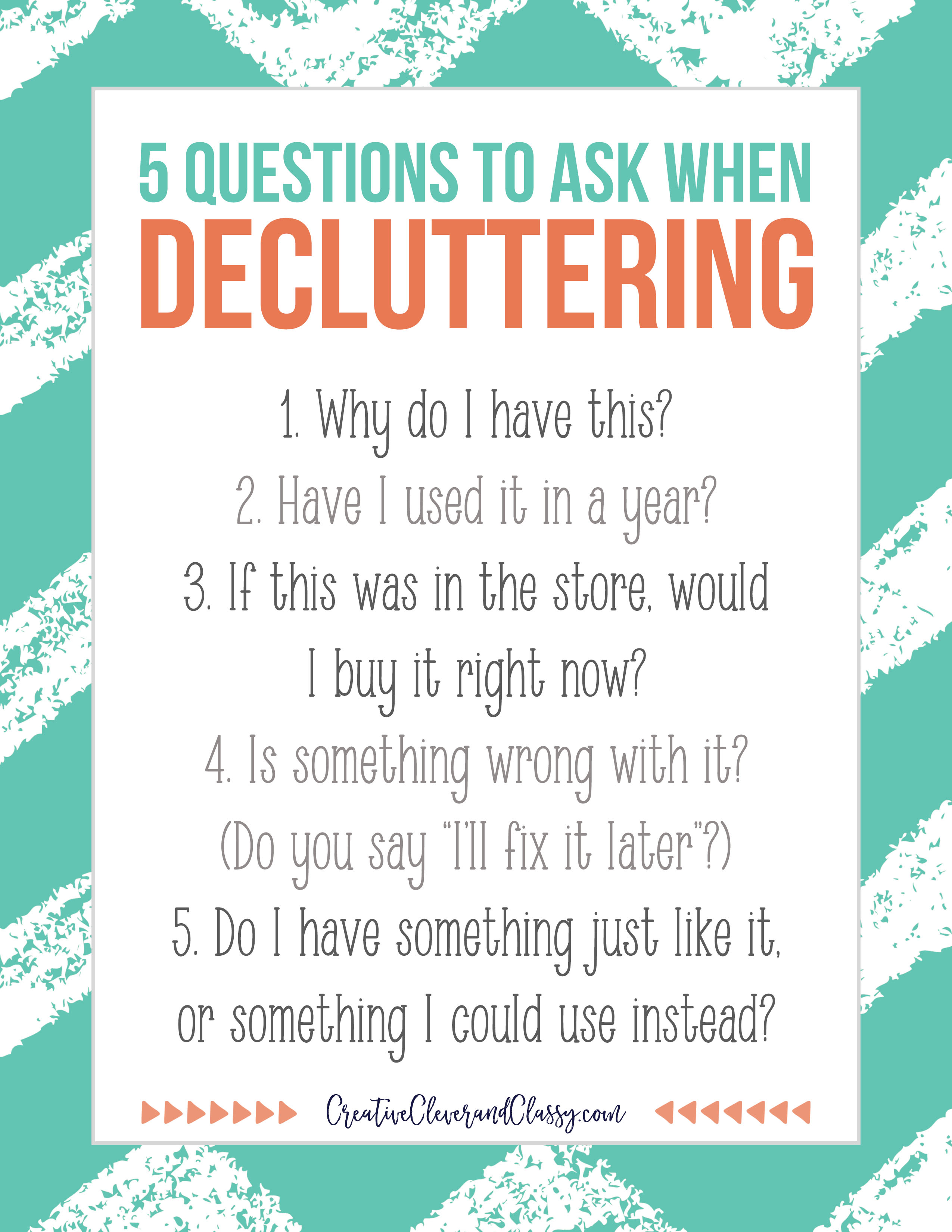 With Christmas coming up, it can be easy to accumulate a lot of stuff. Here are five easy questions you can ask yourself when you're decluttering.