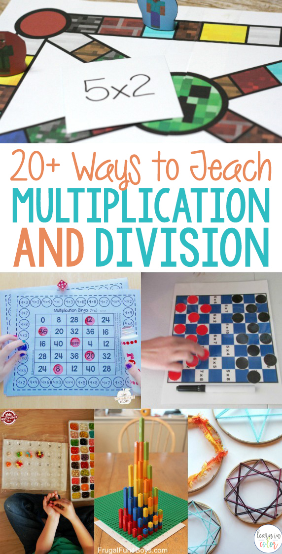 Students learn more when they're having fun. Here are some creative, fun and easy ways to teach hands on multiplication and division!