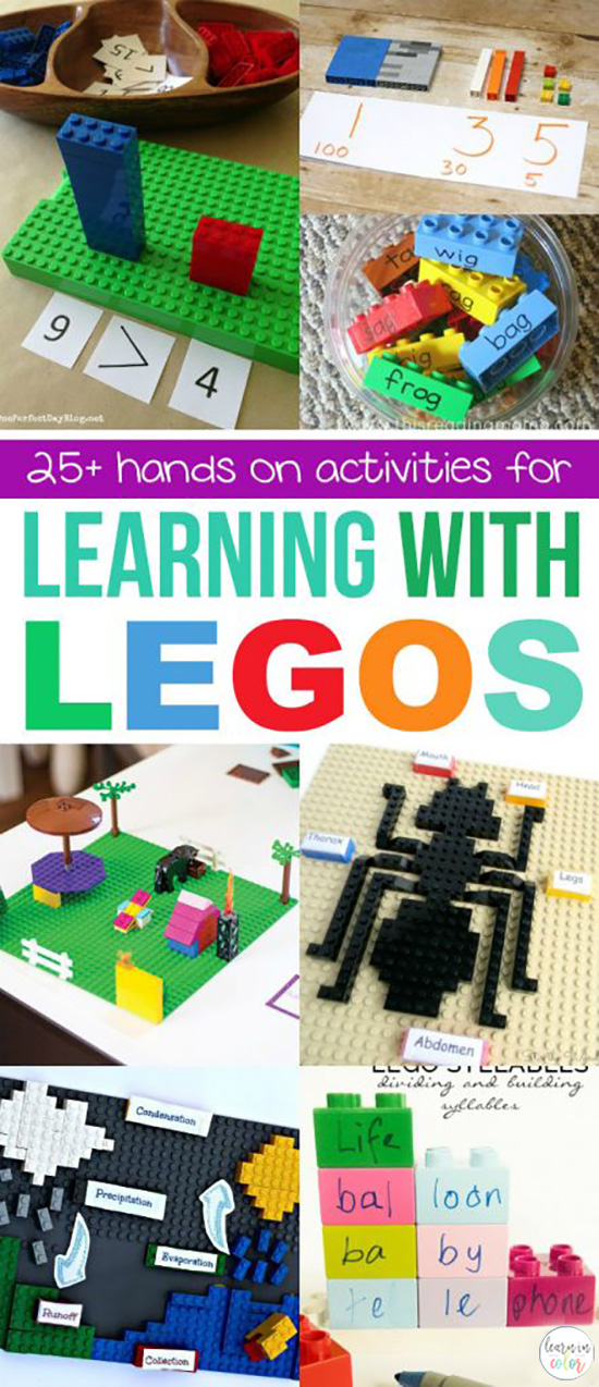 Learn with LEGOs with this variety of hands-on activities including math, science, reading, and more! Opportunities are endless for engaged learning.