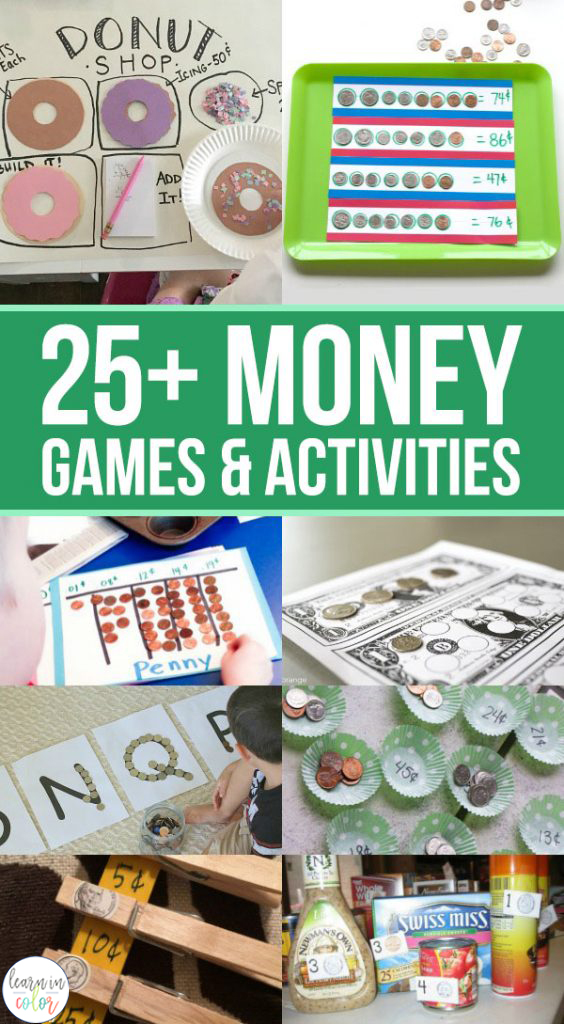 Financial literacy is one of those skills that stays with you long after you're finished with school. Teach the concepts of money with these 25+ money games and activities!