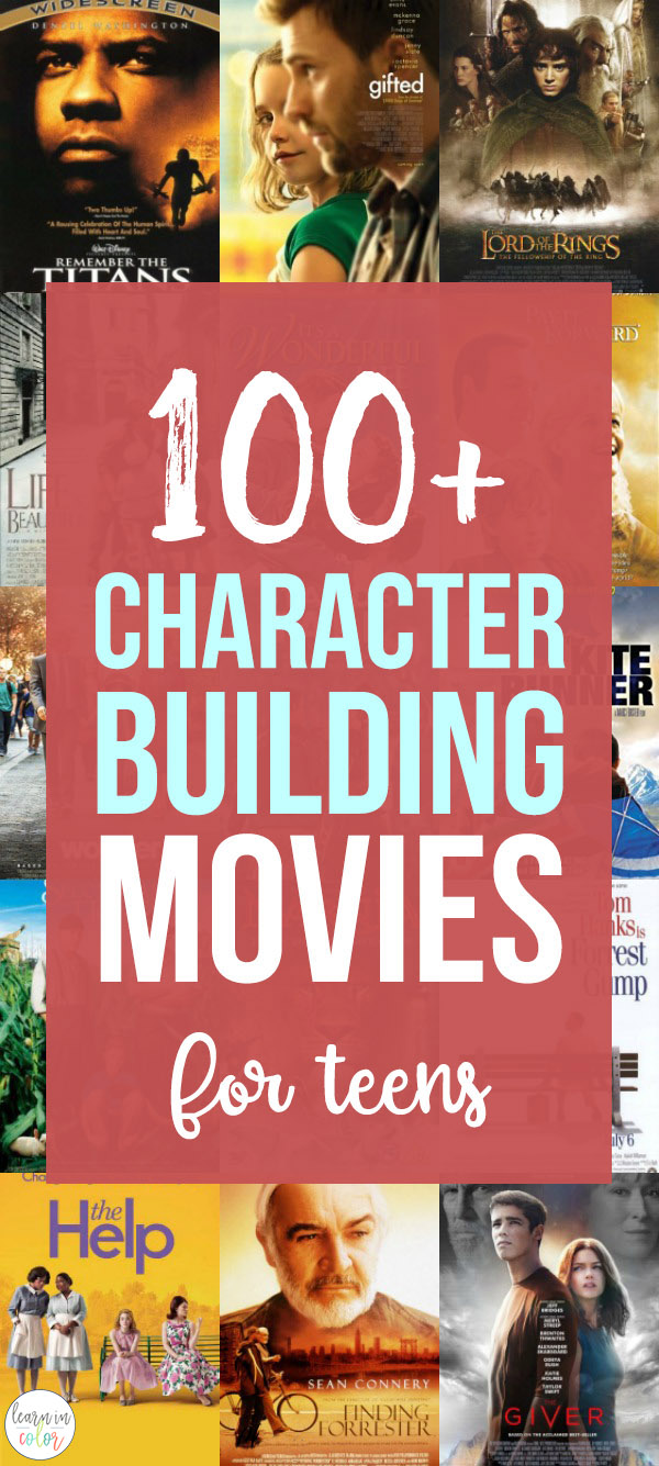 Movies are a great way to help us learn more about the world around us. Why not use them to help teach character-building? Here are 100+ character building movie nights for teens, filled with strong life lessons!
