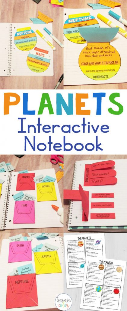 Discover our solar system with this planets lapbook interactive notebook! Use it to learn more about our eight planets; Mercury, Venus, Earth, Mars, Jupiter, Saturn, Uranus, and Neptune.
