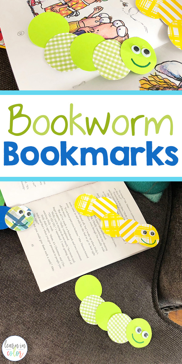 Any reader knows that you can never have too many bookmarks around! Here are some adorable DIY bookworm bookmarks for kids!
