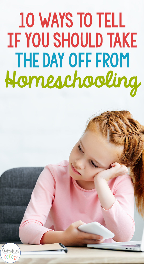 One of the best things about homeschooling is that you get to decide when class is in session. Homeschooling allows for a flexible schedule. Every family and situation is different, but here are ten different times when homeschoolers often take the day off from school!