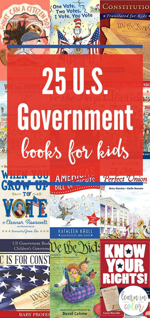 Learn more about the American government with these US Government books for kids. Study our nation's history, politics, and constitution!