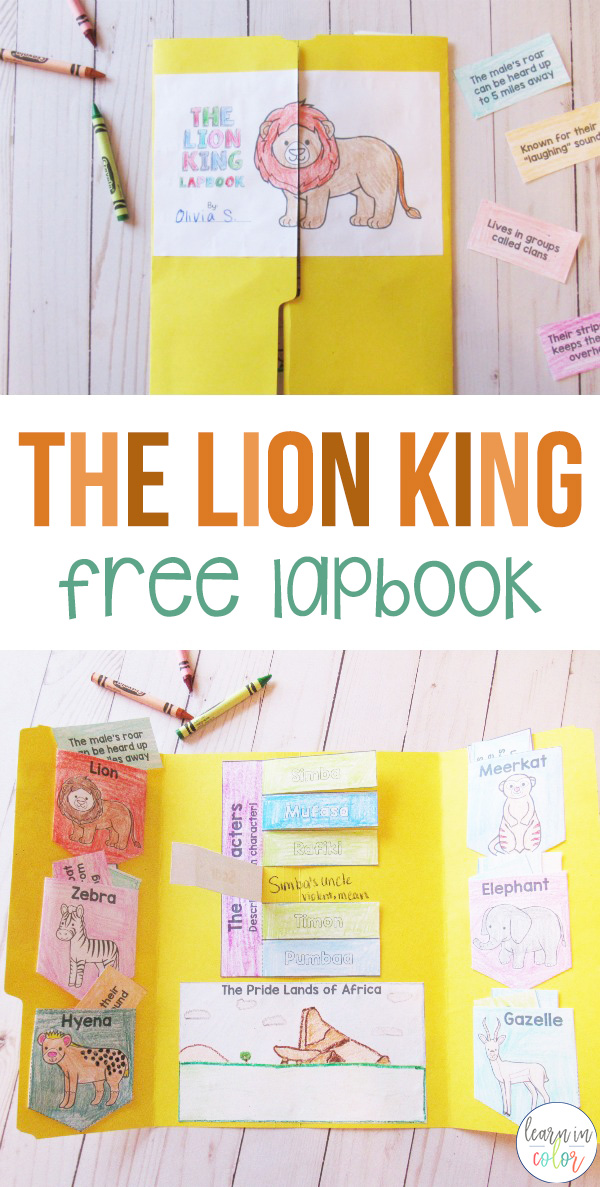Grab this free The Lion King lapbook! Learn about the animals featured in the movie with these hands-on activities.