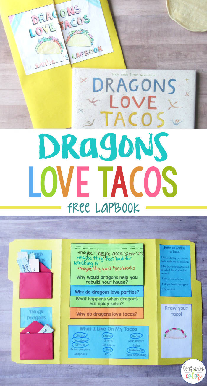 Dragons Love Tacos by Adam Rubin is a fun story about dragon-loving tacos! Use this Dragons Love Tacos lapbook for comprehension and fun!