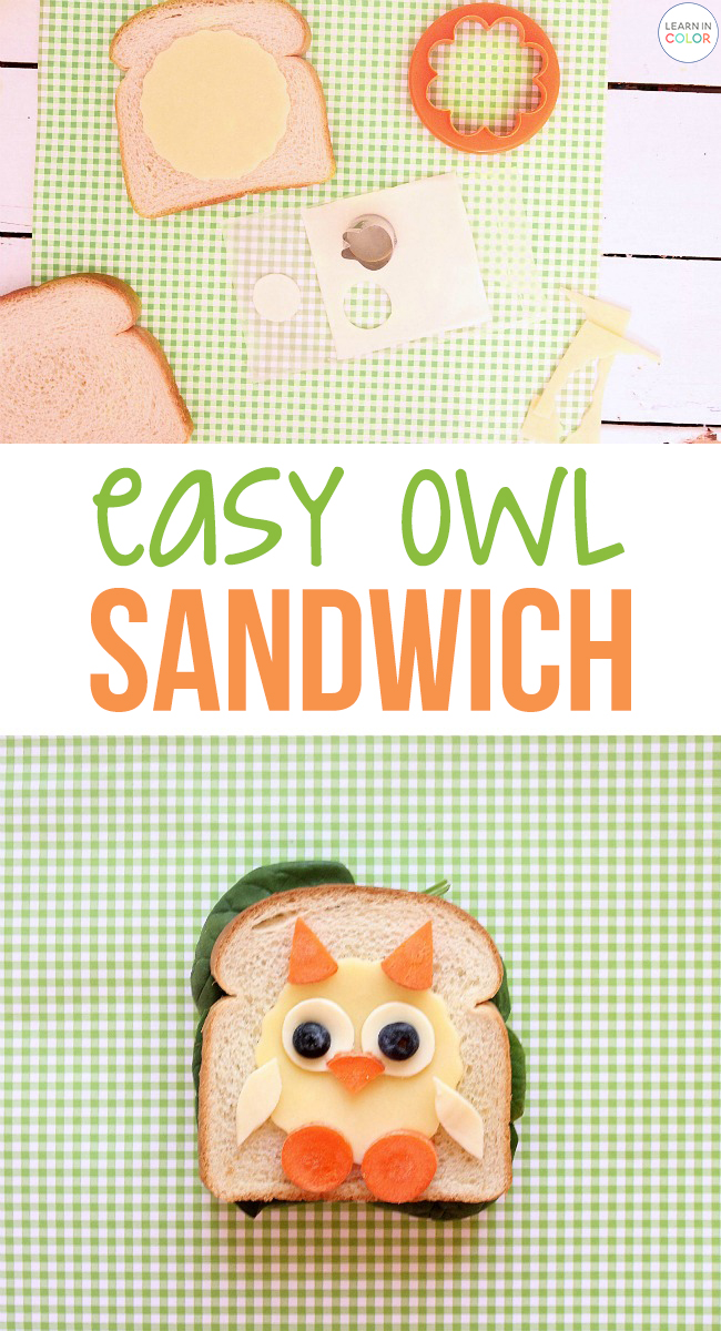 In a lunchtime rut? Get the kids involved with this adorable, easy owl sandwich that is guaranteed to brighten up your lunch.