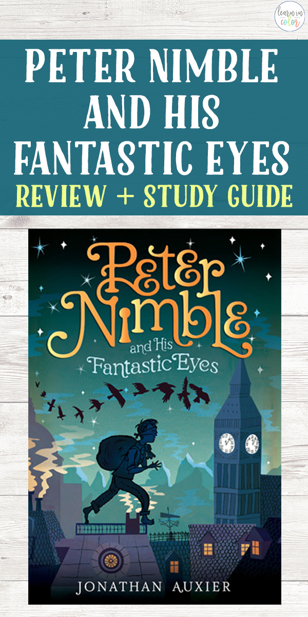 Peter Nimble and His Fantastic Eyes by Jonathan Auxier is a thrilling adventure fantasy novel and a solid choice for middle schoolers.
