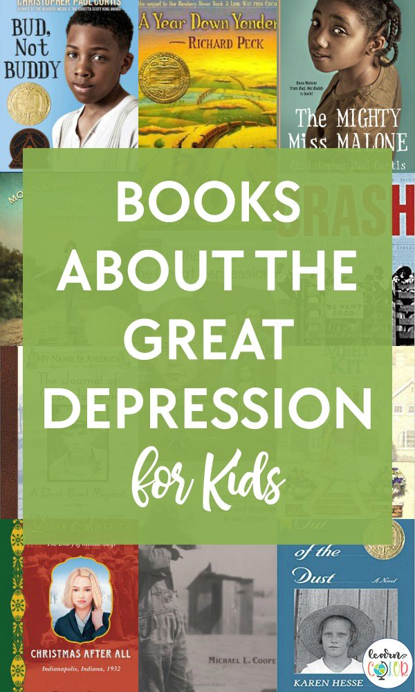 Learn about the Great Depression through these engaging Great Depression books for elementary and middle school students.