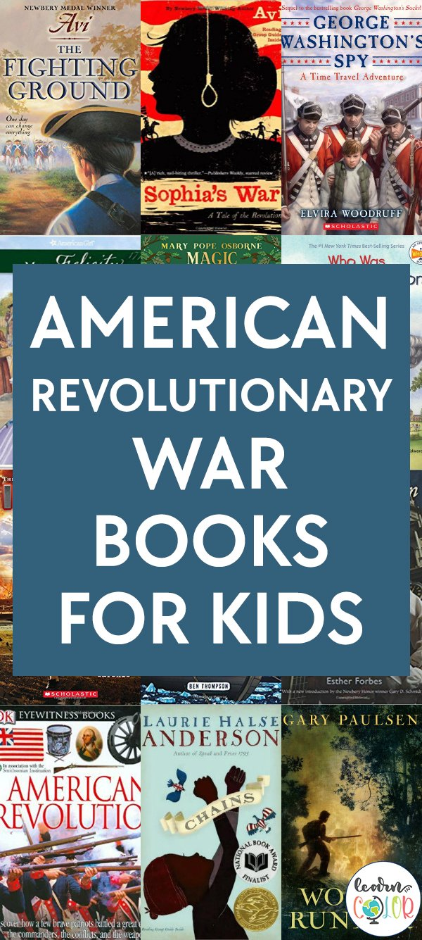 Learn about the American Revolutionary War through these engaging American Revolutionary War books for kids, sorted by grade level.