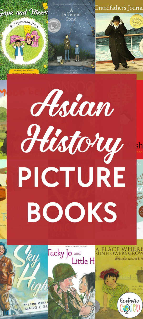 Learn more about Asian historical events with these Asian history picture books for children, including books about Asians in America.
