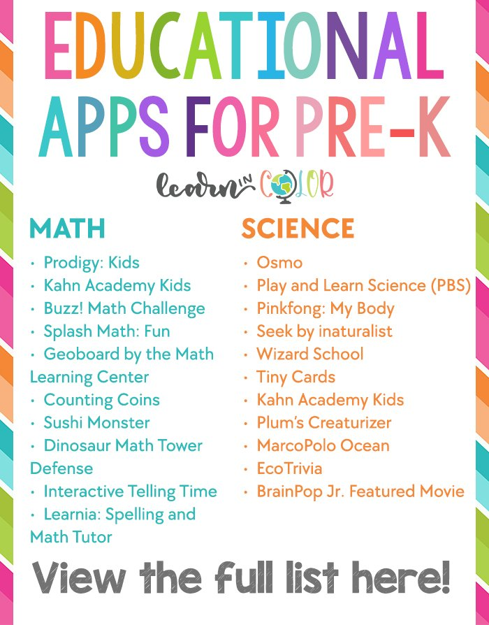 list of free apps for education