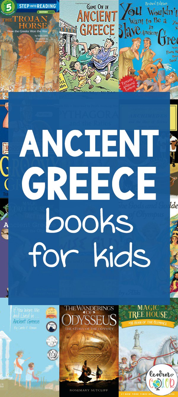 Read more about the history of Ancient Greece with these historical Ancient Greece books for kids, including fiction and non-fiction novels.