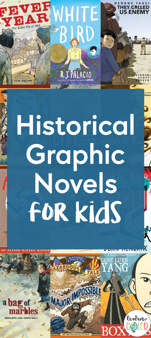 Learn more about important events in history through these historical graphic novels for kids, including books for elementary students and middle schoolers.