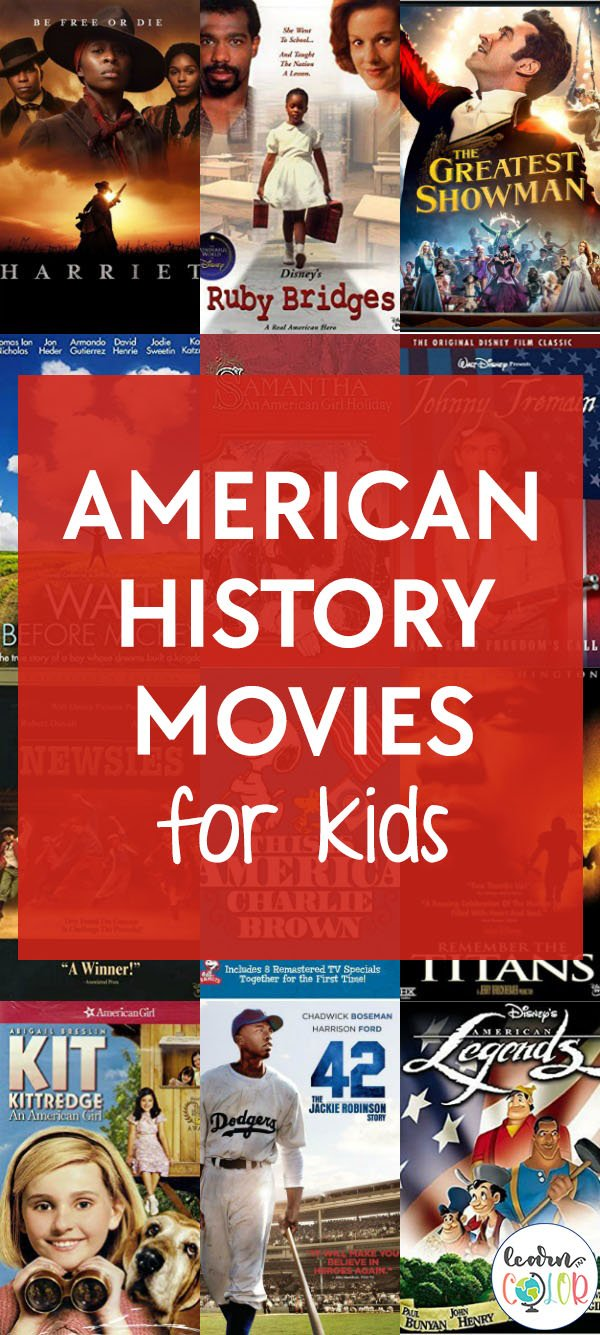 Bring American history to life with these American history movies for kids!