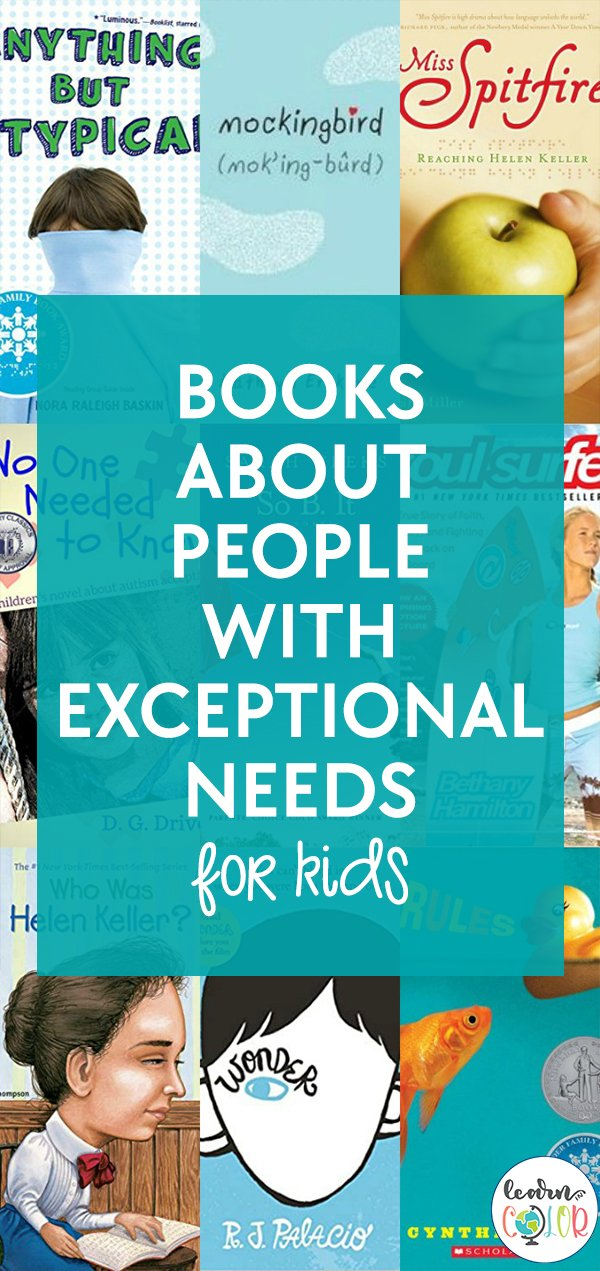 Encourage diversity with this rich book list about people with different exceptional needs.