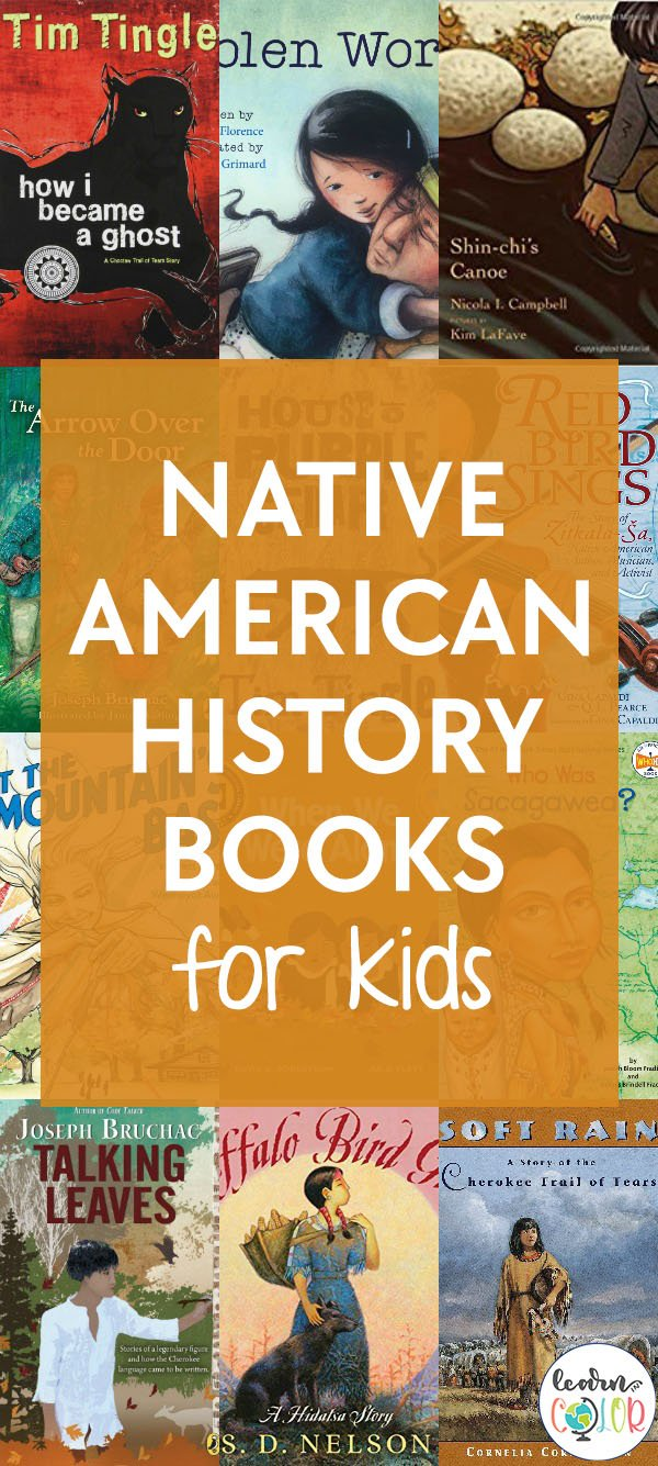 Learn more about the historical events of Native America with these kid's books about Native American history, including chapter books for children.