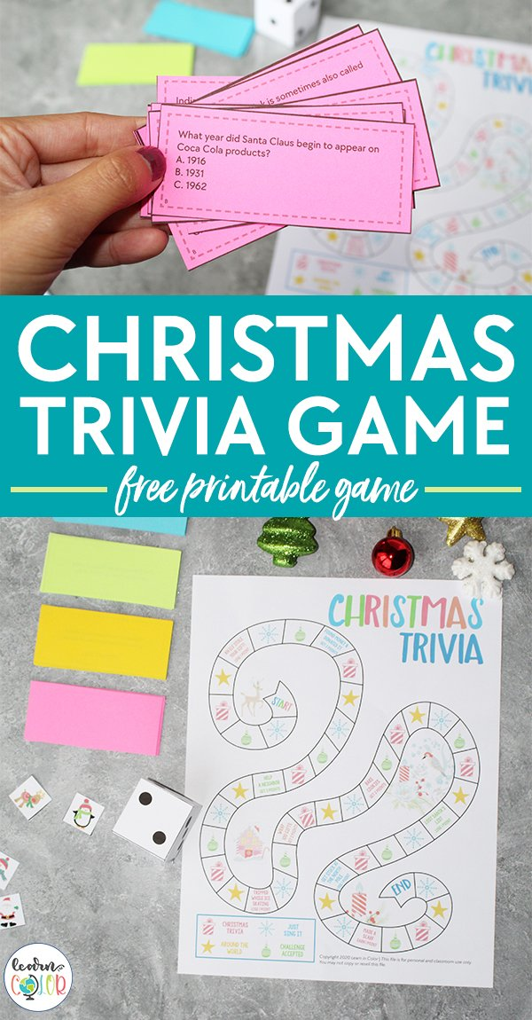 Think you're a Christmas buff? Test your Christmas knowledge with this free printable Christmas trivia game!